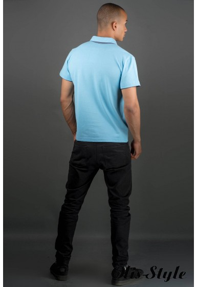Мужская футболка Поло (голубой) оптовая цена