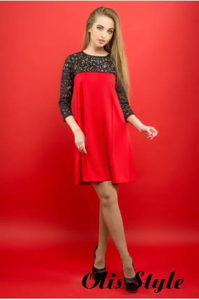 Платье Эмма (красный) Оптовая цена