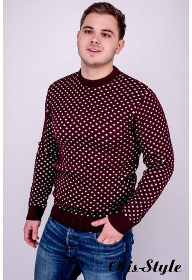 Мужской свитер Гамлет (бордовый) оптовая цена