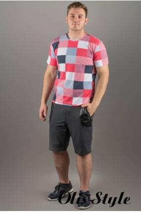 Мужская футболка Лаки (коралл клетка) оптовая цена