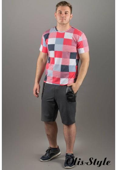 Мужская футболка Лаки (коралл клетка)