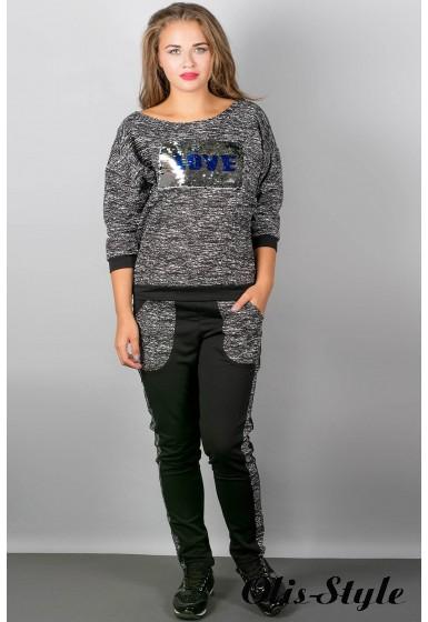 спортивный костюм Сандра (черный 2)   Оптовая Цена