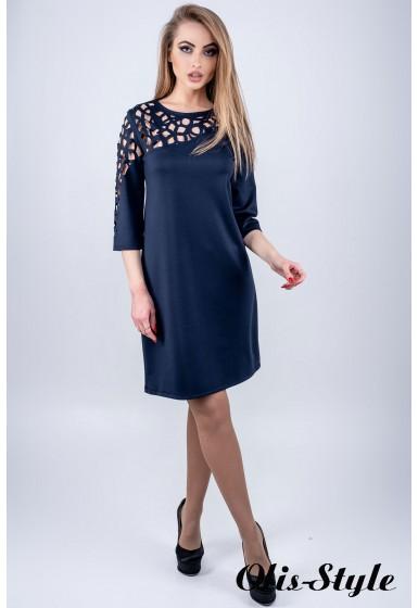 Платье Луиза (синий) Оптовая цена