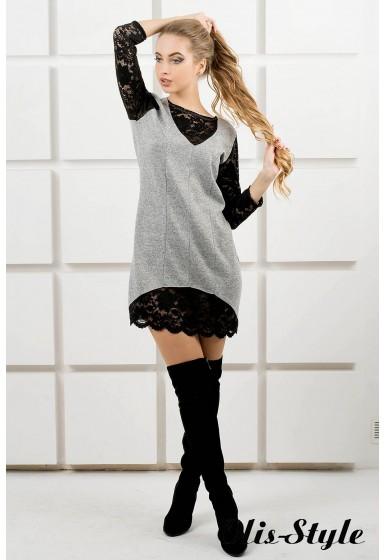 Платье Монита (серый) Оптовая цена