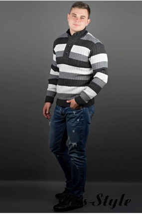 Мужской свитер Вильям (черный) оптовая цена