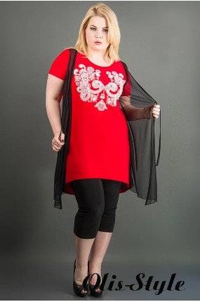 Туника Паула (красный) Оптовая цена