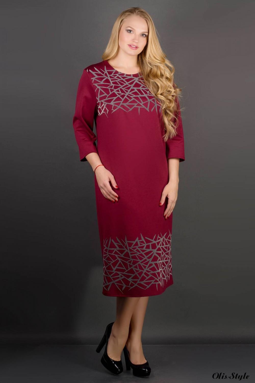 Платье Пиастра (бордовый) Оптовая цена