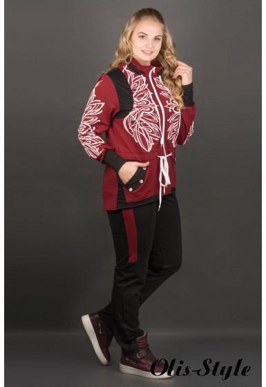 Спортивный костюм Марго (бордовый) оптовая цена
