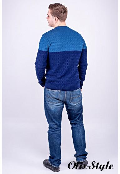 Мужской свитер Михаил (синий) оптовая цена