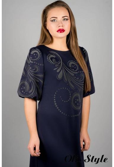 Платье Каролина (синий) оптовая цена