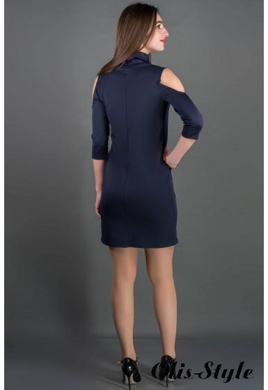 Платье Самира (синий) Оптовая цена