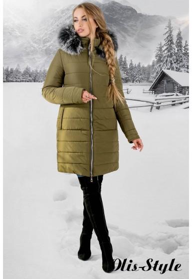 Зимняя куртка Флорида (хаки серый мех) Оптовая цена