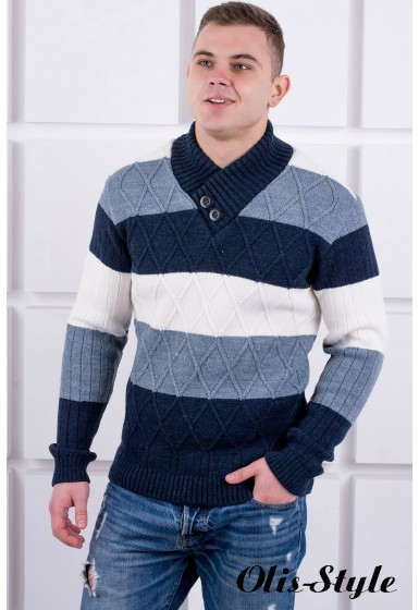 Мужской свитер Ричард шаль (синий) оптовая цена