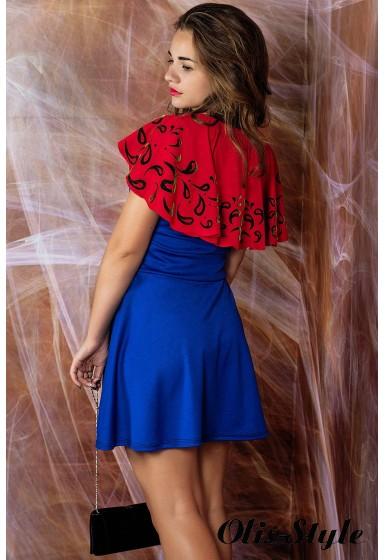 Платье Мадонна (электрик с кораллом) оптовая цена