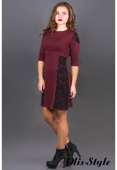 Платье Оника (бордовый) Оптовая цена