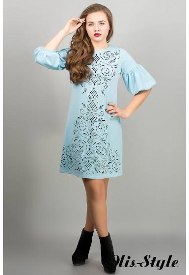 Платье Кармен (голубой) оптовая цена
