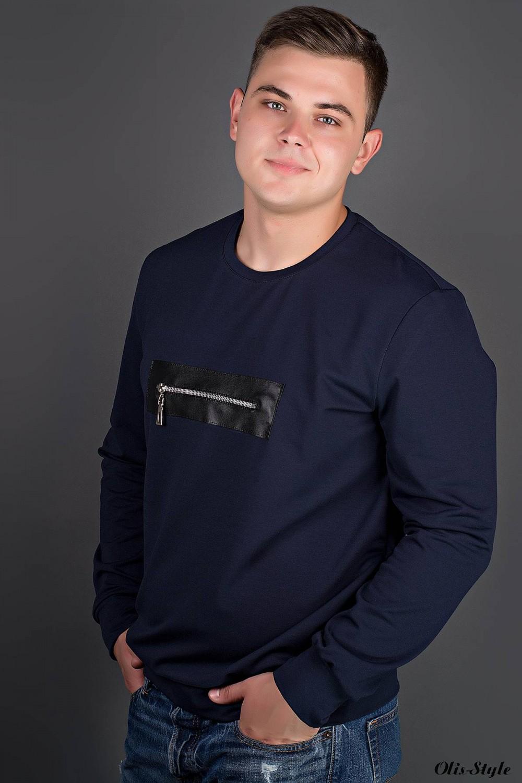 Мужская толстовка Роэль (синий) оптовая цена