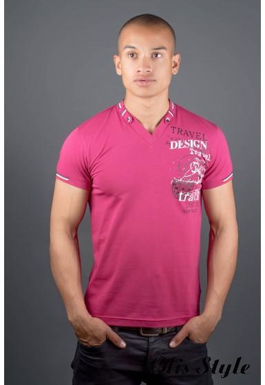 Мужская футболка Грэт (бордовый) оптовая цена
