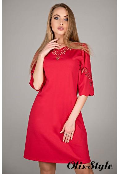 Платье Диколь (красный) Оптовая цена