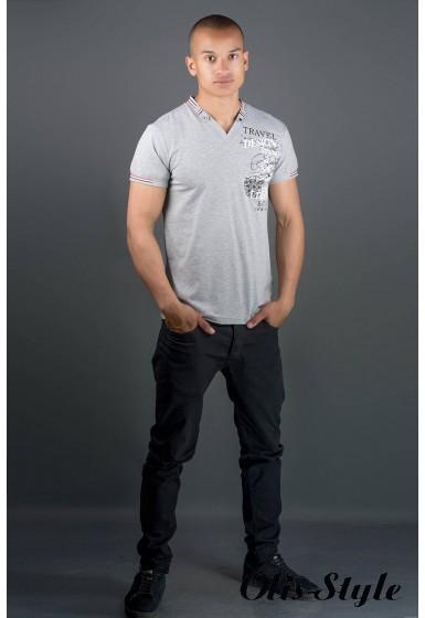 Мужская футболка Грэт (серый) оптовая цена