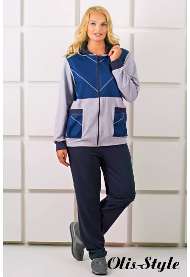 Спортивный костюм Лакри (серый)   оптовая цена