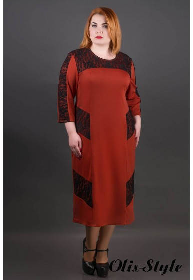 Платье Грация (кирпичный) Оптовая цена