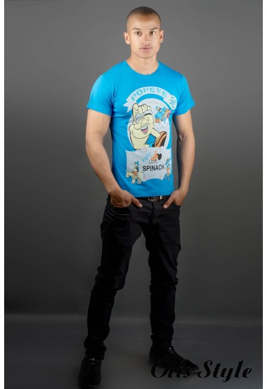 Мужская футболка Попей (синий) оптовая цена