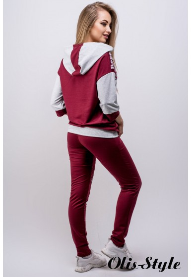 Спортивный костюм Вилари (бордовый) Оптовая цена
