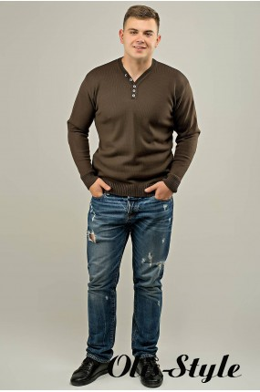 Мужской свитер Серега (коричневый) оптовая цена