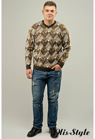 Мужской свитер Доминик (бежевый) оптовая цена