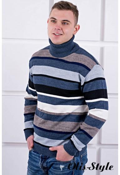 Мужской свитер Марсель хомут (синий) оптовая цена