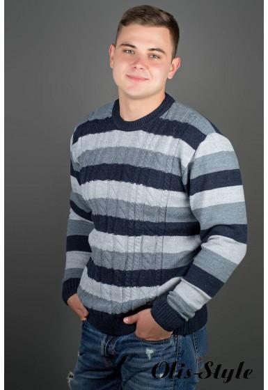 Мужской свитер Арсен (синий) оптовая цена