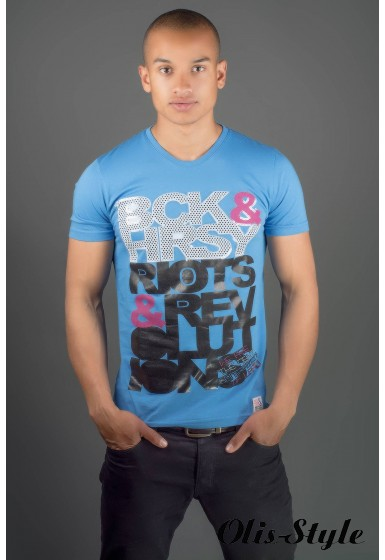 Мужская футболка Йонес (голубой) оптовая цена