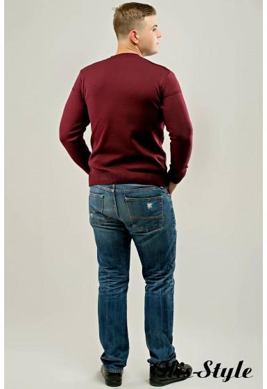 Мужской свитер Себостьян (бордовый) оптовая цена