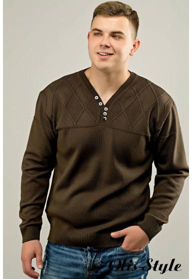Мужской свитер Себостьян (коричневый) оптовая цена