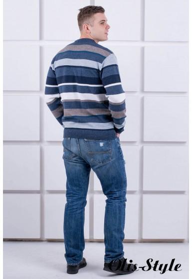 Мужской свитер Марсель кр.горло (синий) оптовая цена