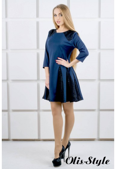 Платье Хэлли (синий) Оптовая цена