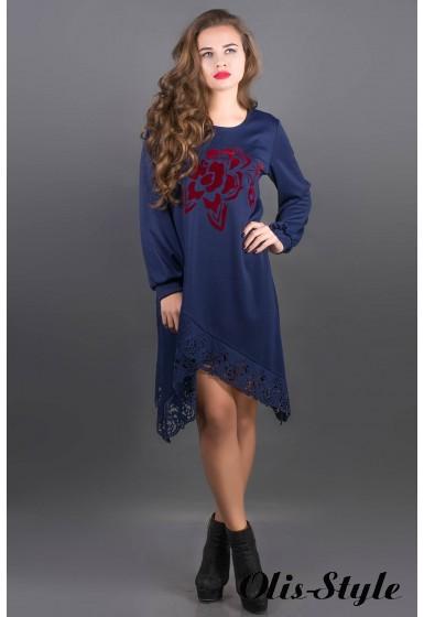 Платье Бланк (синий) Оптовая цена