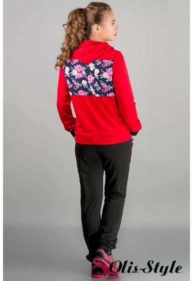 спортивный костюм Анжелика (красный полоска) Оптовая Цена