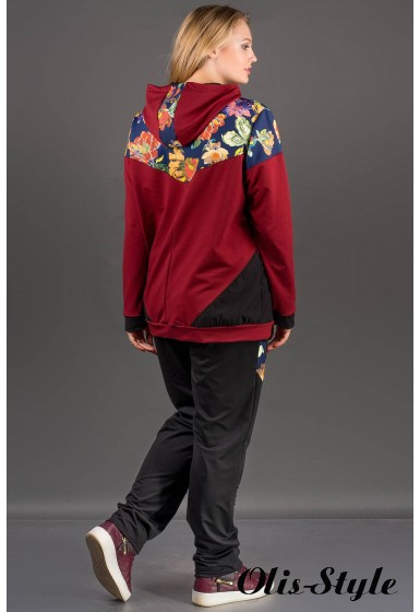 Спортивный костюм Дейла (бордовый) оптовая цена