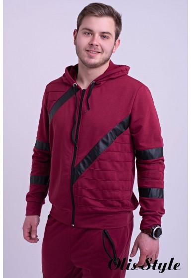 Мужской спортивный костюм Конти (бордовый) Оптовая Цена