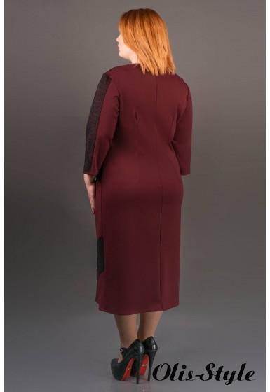 Платье Грация (бордовый) Оптовая цена