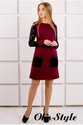 Платье Кэнди (бордовый) Оптовая цена