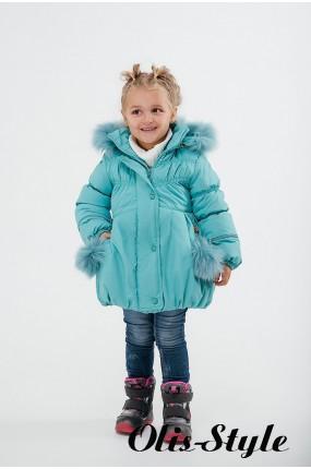 Зимняя детская куртка Бемби (мятный) ОПТОВАЯ ЦЕНА