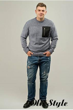 Мужской свитер Булат2 (серый) оптовая цена