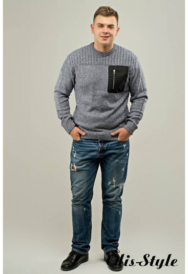Мужской свитер Булат (серый) оптовая цена