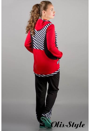 спортивный костюм Магнолия (красный полоска) Оптовая Цена