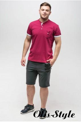 Мужская футболка Филипп (бордовый) оптовая цена
