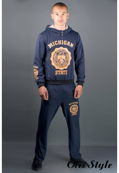 Мужской спортивный костюм Тотем (синий) Оптовая Цена