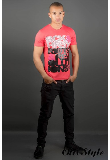 Мужская футболка Йонес (красный) оптовая цена